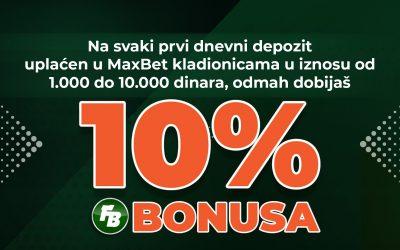 10% bonusa na uplatu u poslovnici